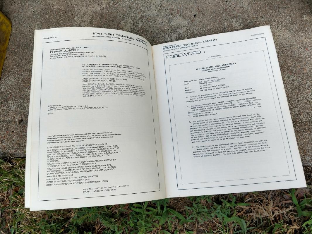 star trek fleet academy technical manual cadet handbook 20th anniversary edition