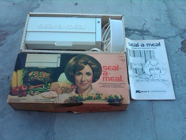 KMART SEAL A MEAL ELECTRIC APPLIANCE FOOD SAVER GADGET RETRO KITCHEN TOOL