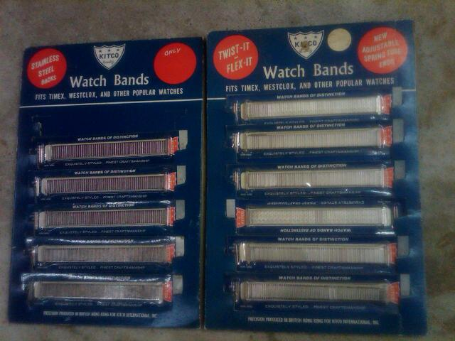 KITCO WATCH BAND STORE COUNTER DISPLAY CARD RETRO WRIST WEAR WATCHBAND ACCESSORY