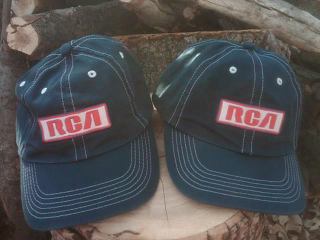RCA BALL CAP BASEBALL STYLE HAT ELECTRONICS ADVERTISING GARMENT K PRODUCTS USA MADE HEADWEAR FASHION APPAREL