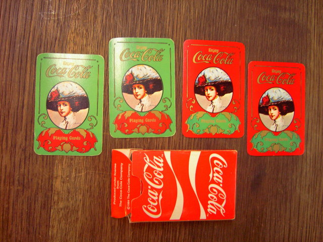 COKE COCA COLA PLAYING CARDS BRIDGE GAME STYLE