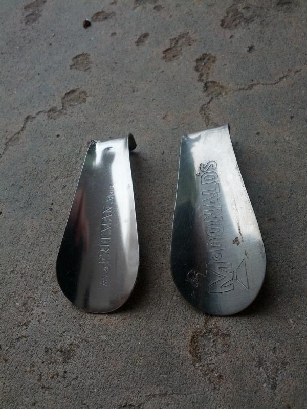 mcdonald freeman shoe horn foot wear boot apparel advertising tool