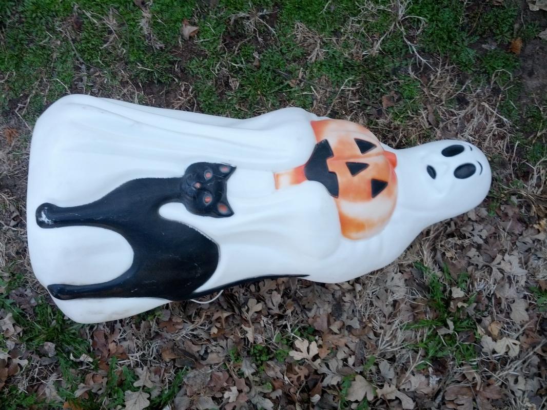 EMPIRE GHOST PORCH LIGHT BLACK CAT JACK O LANTERN HALLOWEEN DECORATION PATIO LAMP