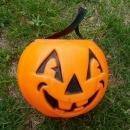 HALLOWEEN JACK O LANTERN CARVED PUMPKIN CANDY CARRIER TOTE HOLIDAY DECORATION