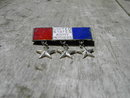ARMY MOTHERS LAPEL PIN UNITED STATES MILITARY STERLING SILVER RED WHITE BLUE 1937