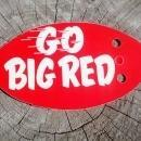 nebraska cornhusker football radio antenna decoration go big red apco petroleum product advertising plastic emblem