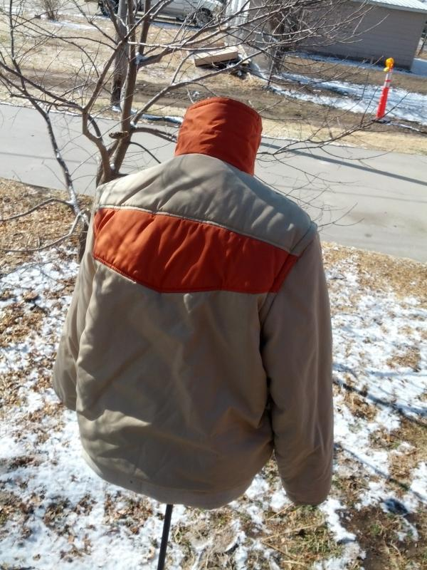 ski dude snow sport sking coat winter vest zip off style sleeves retro outdoor apparel