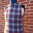 woolrich plaid navy blue vest reversible garment thinsulate thermal insulation
