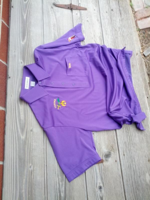 tehama shriner purple shirt short sleeve garment organization apparel boardwalk brand taiwan tag mark