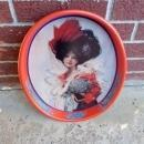 ANHEUSER BUSCH BUDWEISER BEER BEVERAGE SERVING TRAY BEAUTIFUL VICTORIAN GIRL PAINTED STEEL PLATTER