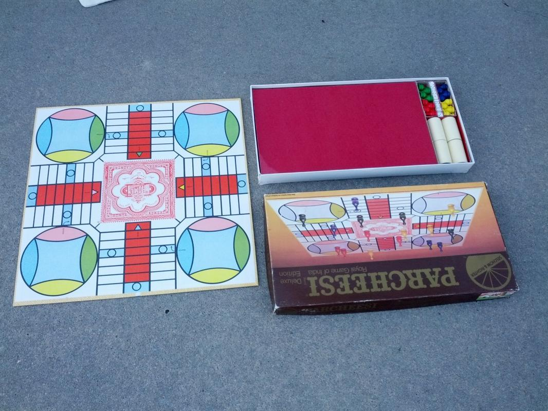 parcheesi royal game of india family pastime selchow righter 1982 board game