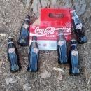 denver broncos coke bottle set coca cola classic john elway commemorative cardboard carrier