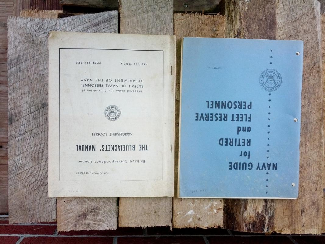 1953 bluejackets manual assignment booklet navy fleet reserve guide
