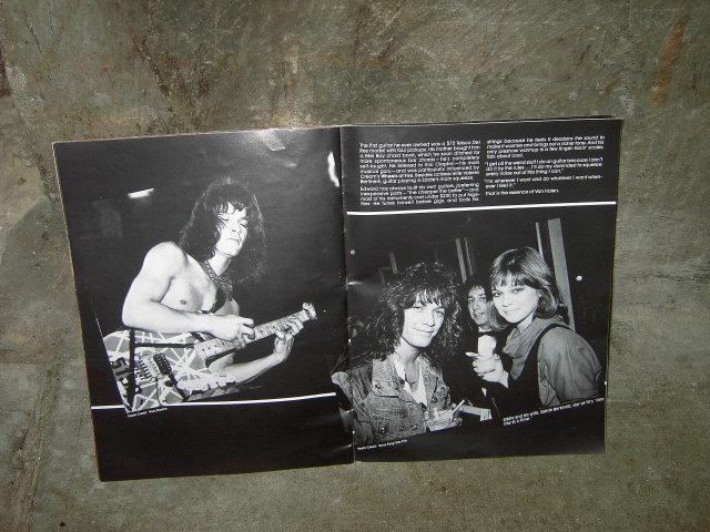 VAN HALEN ROCK ROLL HEAVY METAL MANIA BOOK CONCERT PHOTO BOOKLET