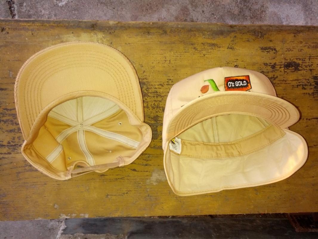 asgrow o's gold farm seed corn hat corduroy winter ear flap cap usa orange city iowa made fashion accessory