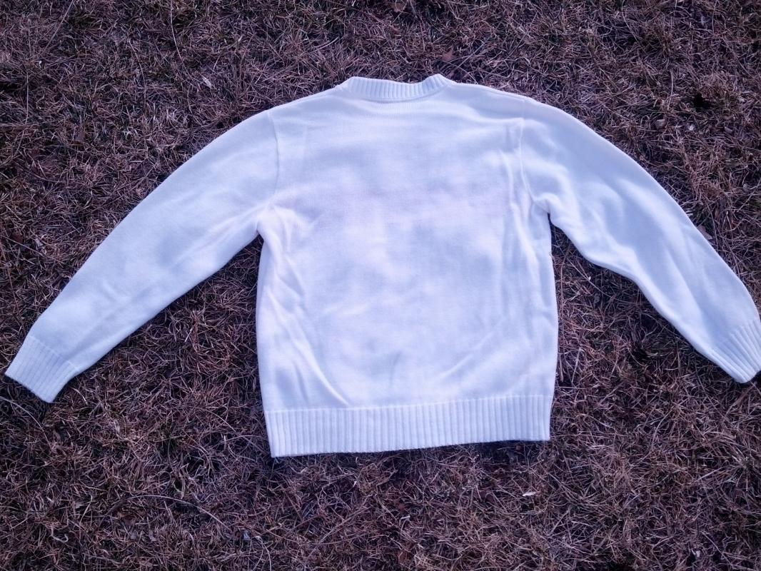 nebraska university acrylic sweater fan school spirit apparel retro era college student garment