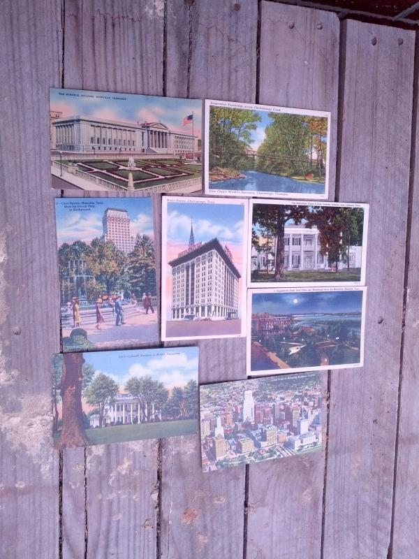 MEMPHIS NASHVILLE LEBANON CHATTANOOGA TENNESSEE POSTCARD TOURIST PICTURE CARD MAIL ARTICLE