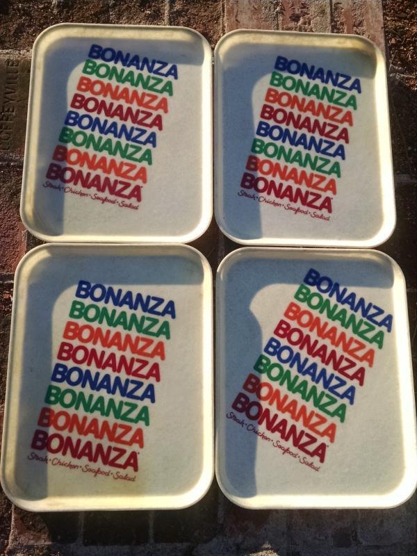 BONANZA STEAKHOUSE FIBERGLASS TRAY FOOD SERVICE BEVERAGE SERVER RETRO ERA  LUNCHROOM UTENSIL RESTAURANT WARE