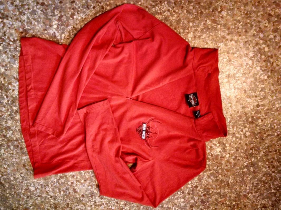 harley davidson motorcycles pharr texas rio grande valley shop shirt long sleeve zip blouse ladies garment orange tone apparel top