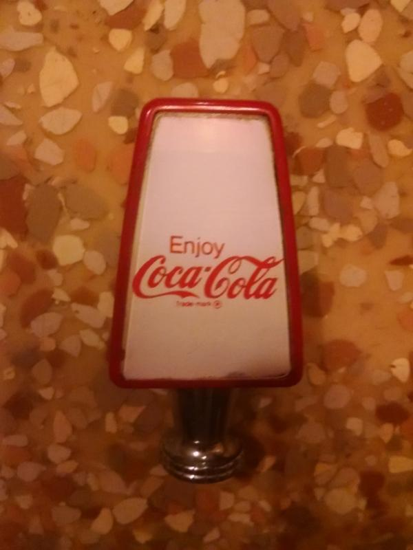 coke coca cola fountain tap handle 1970's soda pop soft drink collectible tool dispenser machine part