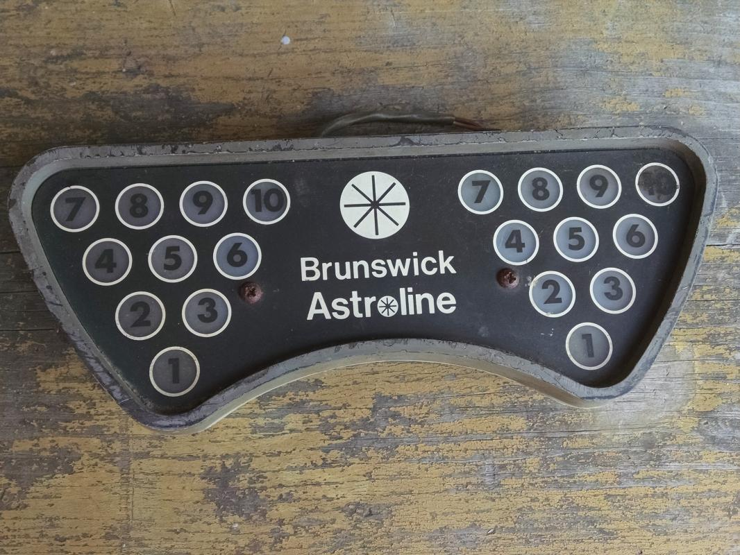 Brunswick Astroline bowling alley lane light fixture bowlers collectible ornament retro sporting goods accessory