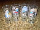 E T EXTRA TERRESTRIAL CARTOON CHARACTER GLASS TUMBLER PIZZA HUT UNIVERSAL STUDIOS 1982 PROMOTIONAL CUP