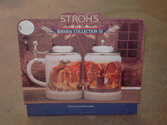 STROH BEER STEIN SIGN BAVARIA MUG COLLECTION CARDBOARD ADVERTISEMENT