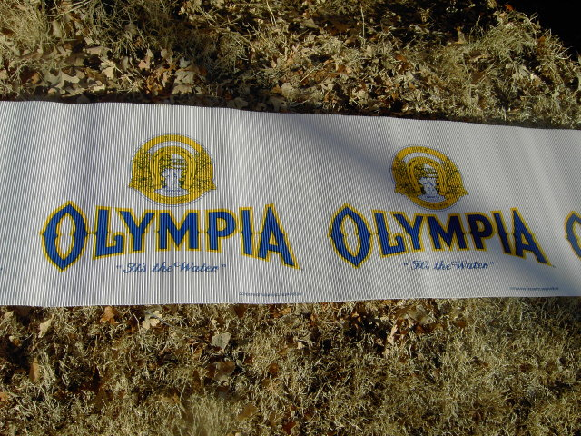 OLYMPIA WASHINGTON BEER BANNER ADVERTISING POSTER PAPER PABST MILWAUKEE WISCONSIN