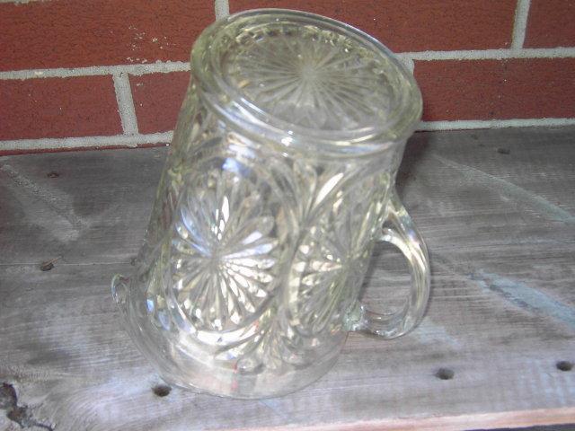 PRESS GLASS PITCHER TANKARD