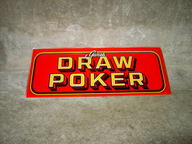 DRAW POKER CARD GAMES GLASS SIGN WALL DECORATION
