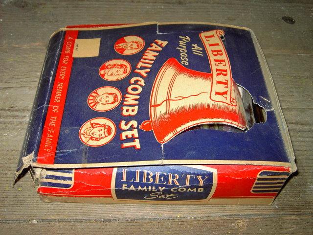 LIBERTY HAIR COMB STORE DISPLAY BOX