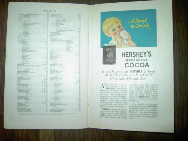 HERSHEYS CHOCOLATE COCOA HISTORY STORY BOOK PENNSYLVANIA LANDMARK PICTURES CANDY ADVERTISEMENTS