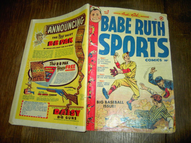 BABE RUTH SPORTS COMIC BOOK HARVEY ENTERPRISES BROADWAY NEW YORK ST LOUIS MISSOURI 1949 JUNE