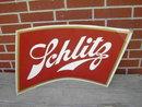 SCHLITZ BEER CARDBOARD SIGN 1958 MILWAUKEE WISCONSIN BREWERY ADVERTISING EMBLEM