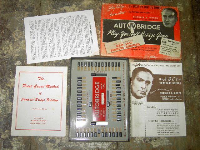 AUTOBRIDGE BOARD BRIDGE PLAYING CARD PASTIME PLAY ALONE TEACHING KIT STRATEGY BOOK