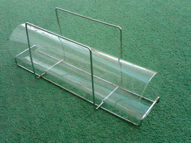 Pyrex Corning Bake A Round Bisquit Bread Baking Tube Ovenware Glass Utensil Wire Carry Rack Handle