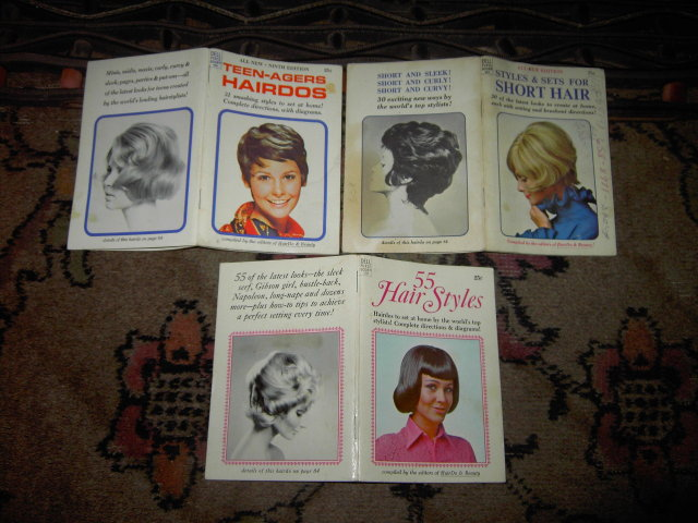 SHORT HAIR STYLE SETS TEENAGER HAIRDOS PURSE BOOKLET RETRO STYLIST GUIDE PAMPHLET