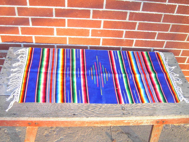 STRIPED BLANKET WALL HANGING TAPESTRY NATIVE AMERICAN INDIAN STYLE DRESSER SCARF