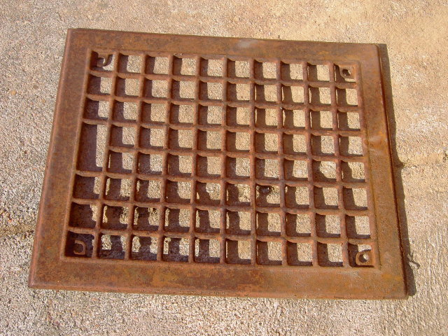 FURNACE GRATE WALL VENT COVER PLATE