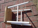 WOODEN STOOL PLANT STAND FOOT REST