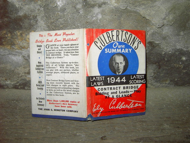 CULBERTSONS CONTRACT BRIDGE SUMMARY BOOK 1944 EDITION
