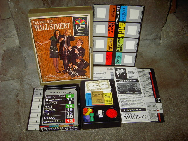 HASBRO WORLD OF WALL STREET HOME ENTERTAINMENT STOCK MARKET INVESTMENT BOARD GAME