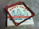 HAPPY FOLKS BRAIDING CROCHETING HOOKING WEAVING LOOM STEEL TOOL PYRAMID MILLS BESSEMER CITY NORTH CAROLINA ORIGINAL BOX