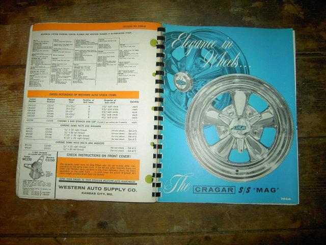 WESTERN AUTO STORE CATALOG 1966 AUTOMOTIVE APPLICATION CHART BOOK CAR SERVICE GARAGE GUIDE BOOK