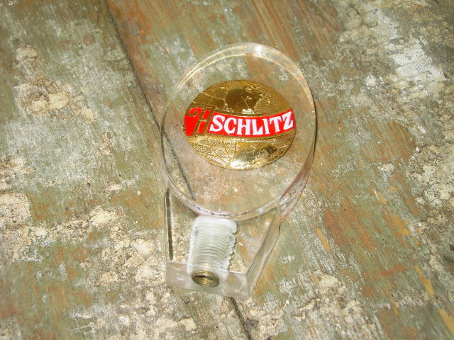 SCHLITZ BEER TAP KEG HANDLE ADVERTISING BAR ACCESSORY