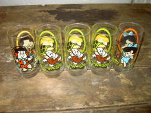 VINTAGE 1986 Pizza Hut The Flintstone Kids Glass-Barney