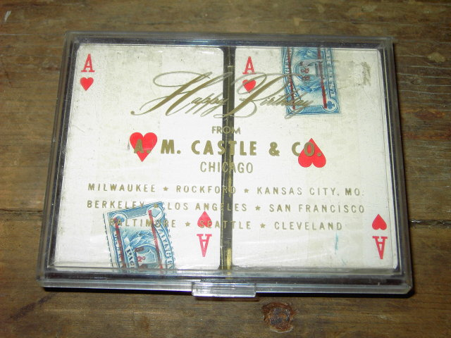 CASTLE STEEL ADVERTISING PLAYING CARDS ORIGINAL GIFT BOX