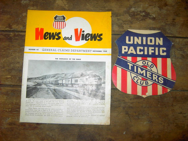 UNION PACIFIC RAILROAD NEWS VIEWS FLYER OLD TIMERS CLUB GREETING CARD