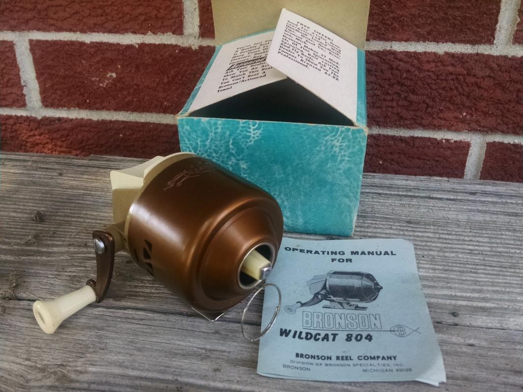 wildcat model 804 fishing reel angling sport tool bronson michigan original box operating manual pamphlet