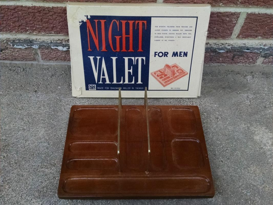 night valet dresser top tray wallet pocket loot organizer chadwick miller taiwan retro apparel accessory